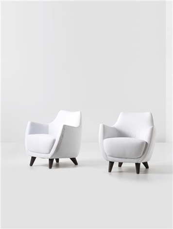 armchairs, designed for the first class ballroom of the augustus transatlantic ocean liner (pair) by gio ponti
