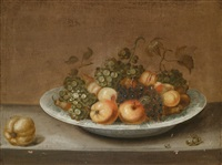 früchtestillleben in einer breiten schale by johannes bouman