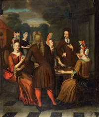 l'heure du café by jan josef horemans the younger