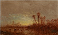 paysage by félix ziem