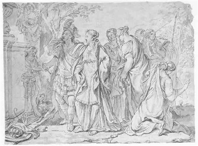sacrifice of polyxena by rené antoine houasse