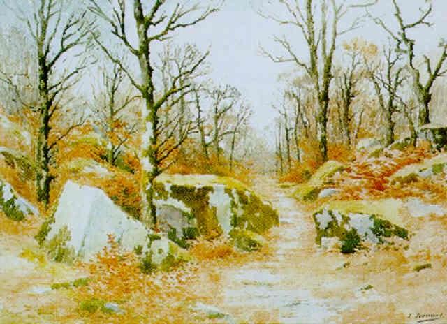 lautomne en forêt by joseph clément maxime jeannot