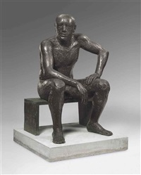 seated man by elisabeth frink