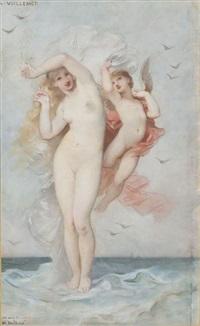 vénus sortie des eaux et amour by andré charles voillemot