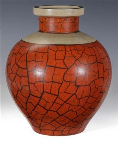 Camark Pottery Crackle Vase By Alfred Tetzschner On Artnet
