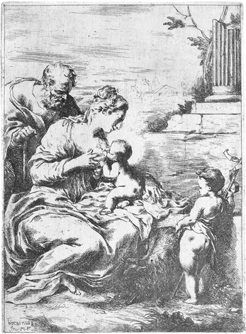 die heilige jungfrau das kind stillend by bartolomeo biscaino