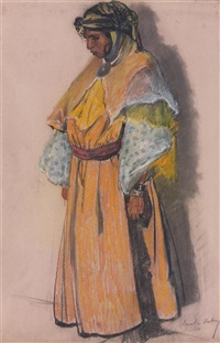 femme mauresque by emile aubry