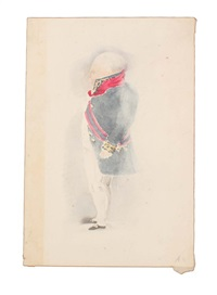 napoleon standing in profile by denzil o. ibbetson