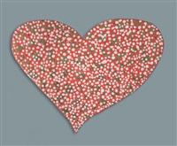 petit coeur rouge et blanc by rotraut