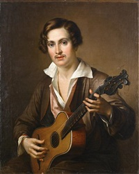 the guitar player by vasili andreevich tropinin