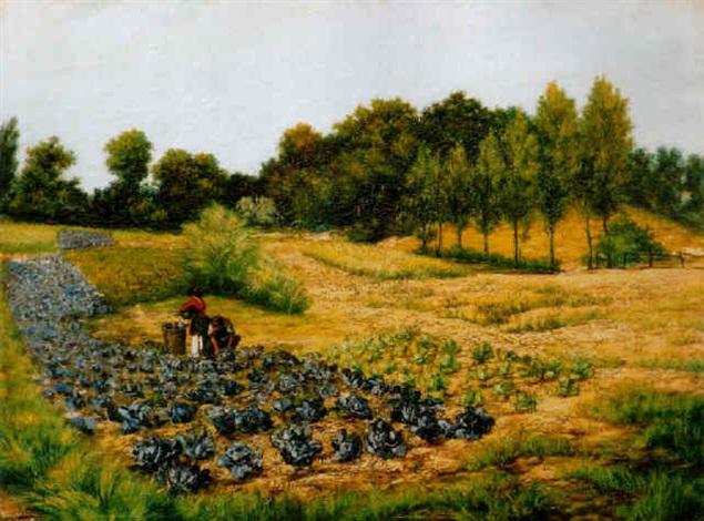 oszi délután a mezon, 1892 (autumn afternoon in the fields) by jacques samu kende