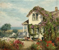 vine clad cottage - pacific grove, house in flowering coastal by william adam