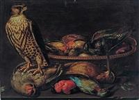 nature morte aux oiseaux et au faucon by clara peeters