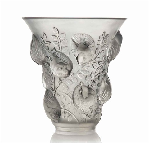 saint-franois vase, no. 1055 by rené lalique