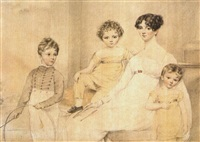 margaret carpenter and her children by henry eldridge