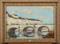 pont sur la loire by alfred théodore joseph bastien