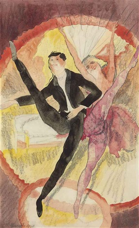 in vaudeville two dancers by charles demuth
