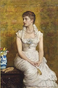 portrait of lady campbell, née nina lehmann by sir john everett millais