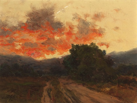sunset above salida colo by charles partridge adams