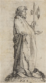 st. matthew (from the twelve apostles) by martin schongauer