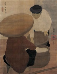 la marchande de riz (the rice seller) by nguyen phanh chanh