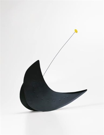 black rocker yellow moon by alexander calder