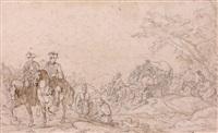 convoi militaire by jean-baptiste (louis) le paon
