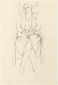 seated lady by dorothy hepworth