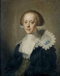 portrait d'une femme à la collerette en dentelle by johannes cornelisz verspronck