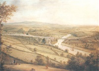 a panoramic view of totnes, devon by william tomkins