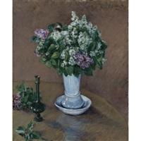 nature morte au vase de lilas by gustave caillebotte