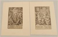 christus unter den doktoren (+ christus als zimmermann; pair) by hieronymus wierix