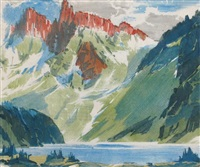 the towers, mt. assiniboine by barbara (barleigh) leighton