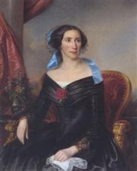 portrait einer dame vor einem landschaftshintergrund by elisabeth modell