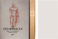 les olympiques (bk w/25 works and text by henry de montherlant) by charles despiau