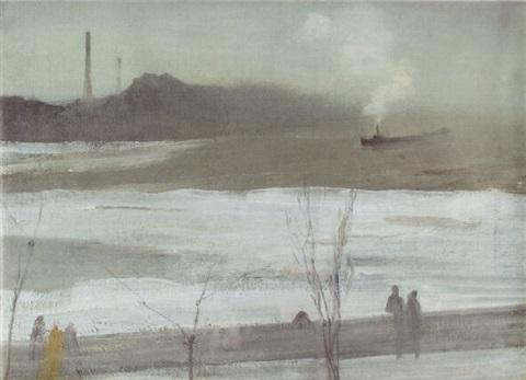 harmony in grey chelsea in ice by james abbott mcneill whistler