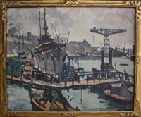 port de brest by lucien victor félix delpy