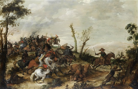 a cavalry skirmish by pieter snayers