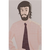 plaid shirt 1 by alex katz
