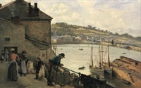 cornish harbour by alfred armitage