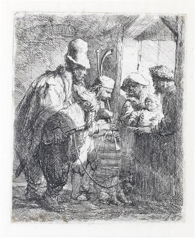 the strolling musicians by rembrandt van rijn
