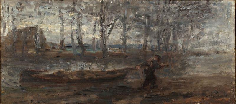 homme en bord de rivière by jozef israëls