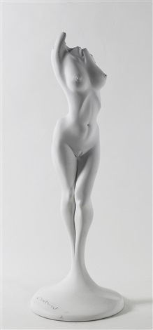 an erotic female sculpture by luigi colani