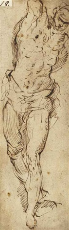 homme debout study by jacopo palma il giovane