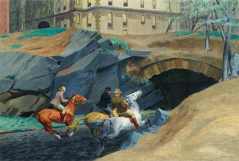 bridle path by edward hopper