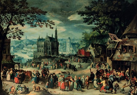 la fête de la saint georges à oudenarde by david vinckboons