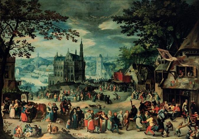 la fête de la saint georges à oudenarde by david vinckboons