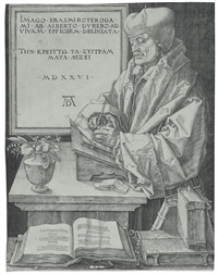 erasmus of rotterdam by albrecht dürer