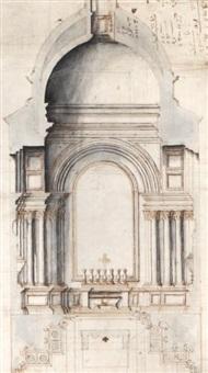 la chapelle du cardinal cibò (study) by carlo fontana