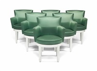 churchill armchairs (set of 6) by philippe hurel